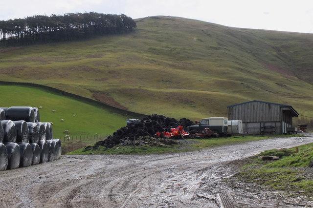 Track passing Boreland Farm