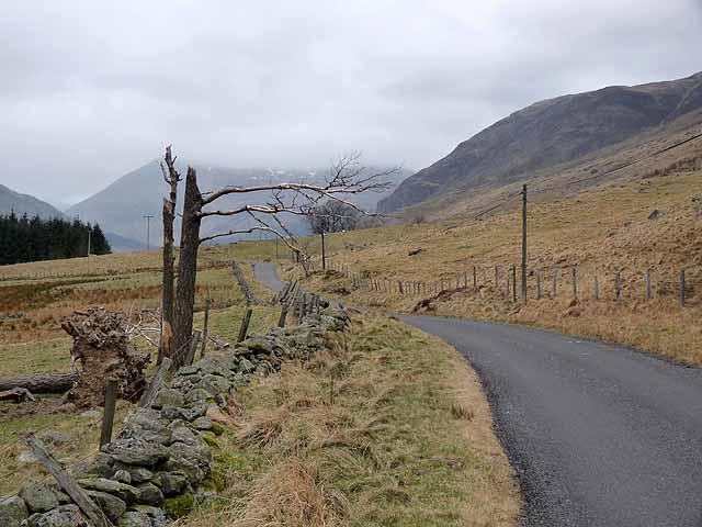 Road up Glen Clova