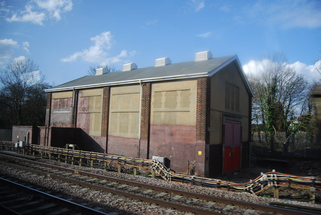 Trackside building, Upminster