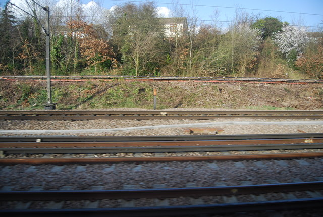 Lines merge near Upminster