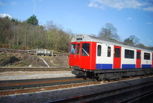 District line train near Upminster