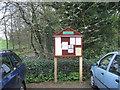 SK2989 : Bradfield Parish Council noticeboard, Rowel Bridge by Robin Stott