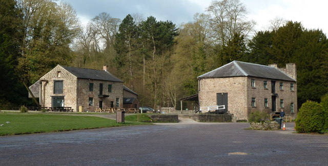 Cromford wharf buildings from the car park