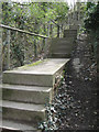 SK2989 : Steps to Spout Lane east of Rowel Bridge by Robin Stott