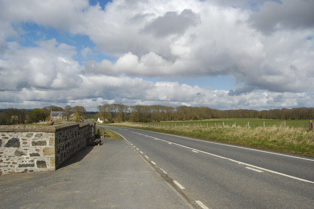 View down the A975
