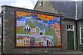 NJ9925 : Mural, Newburgh School by Bill Harrison