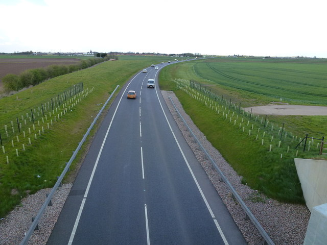 The new A16 from Wright's Drove flyover