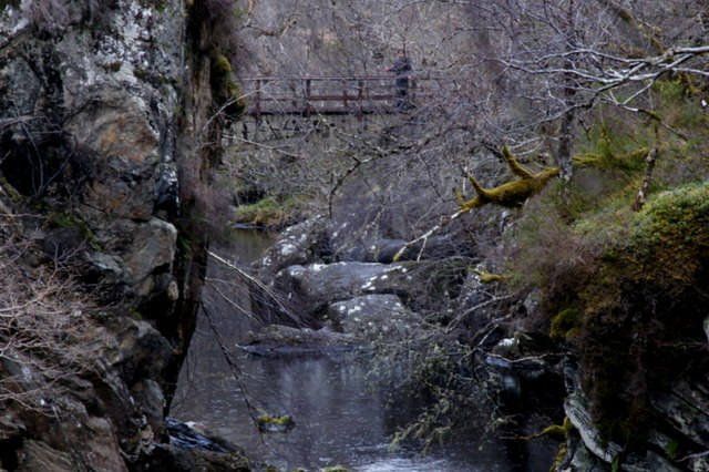 On the bridge below Dog Falls, Glen Affric