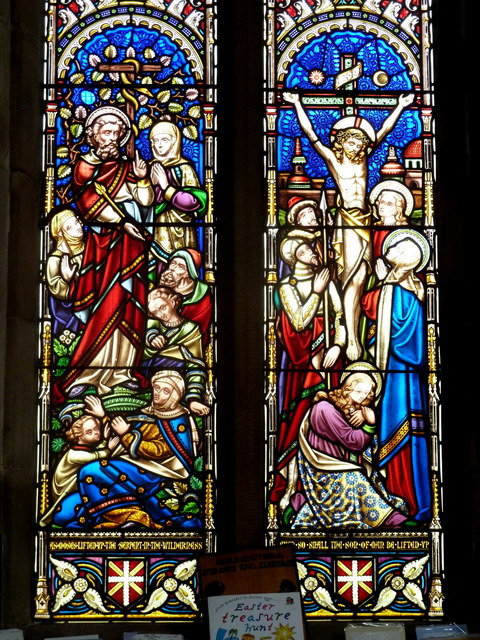 Stained glass window, Bonsall Church