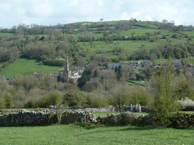 Path from Slaley with view ahead to Bonsall