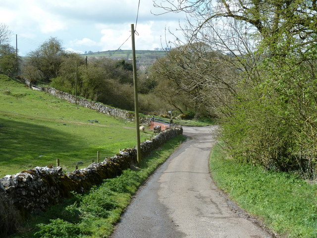 Tophill Lane below the farm