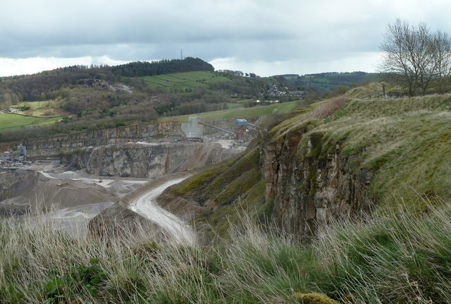 Dene Quarry from the rim footpath