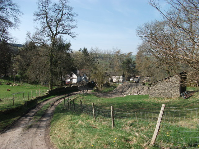 Track leading to Gelli steading