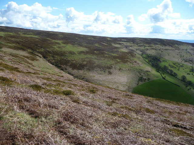 Part of Cwm Iau above Blaenyoy