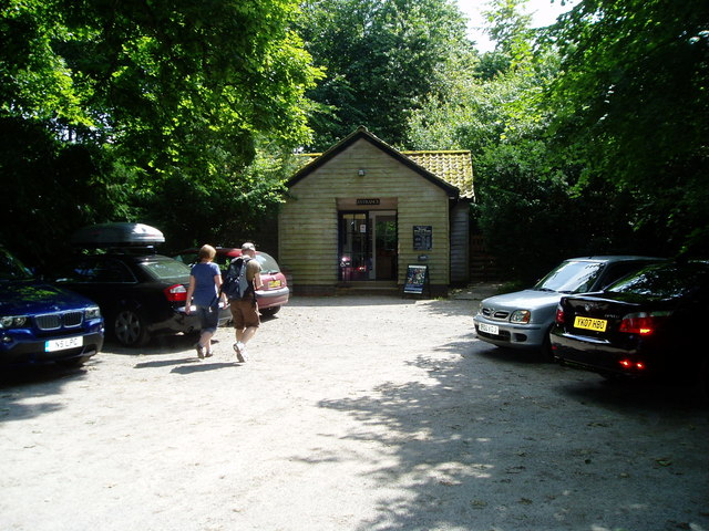 Car park at entrance to National Trust property