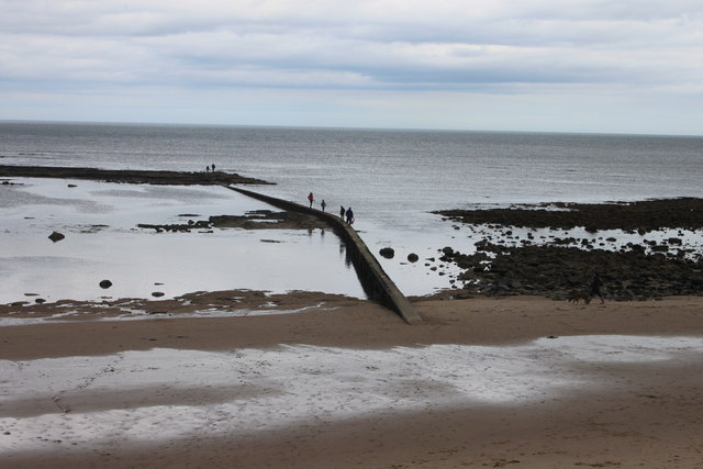 The pipeline on Cresswell beach