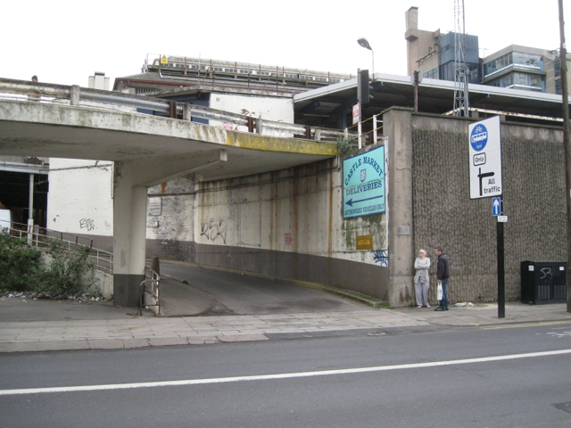 Entrance to Castle Market car park