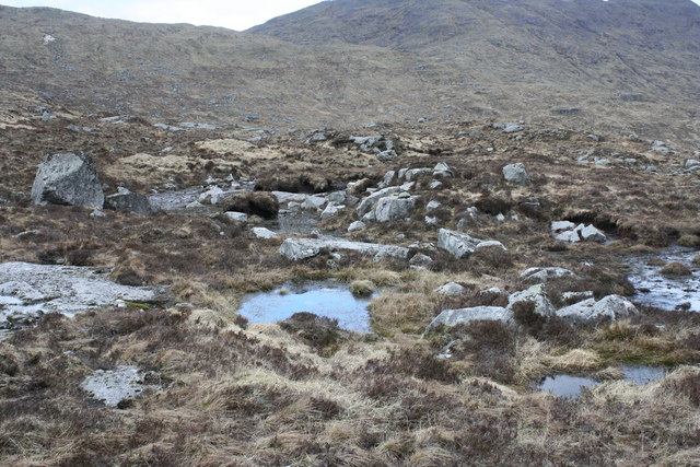 Boggy ground northwest of Beinn Bheag