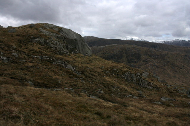 Rock Outcrop below Craig na Cathaig
