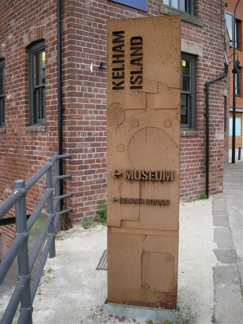 Steel sign for Kelham Island Museum