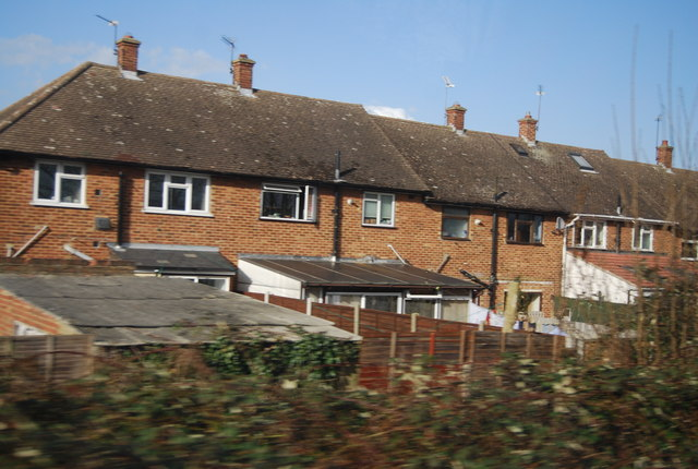 Houses by the railway, Cranham