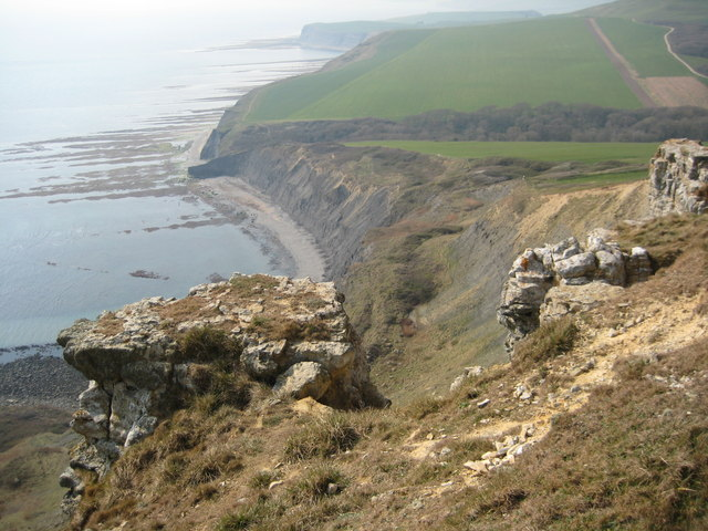 View west from Houns-tout Cliff