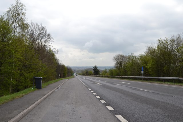 Looking towards Chesterfield down the A61