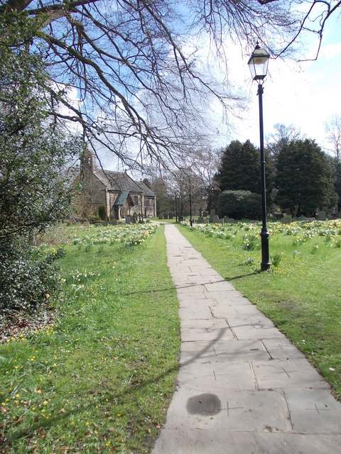 Path leading to St John The Baptist Church - Church Lane