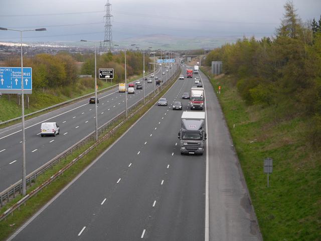 M65 Motorway near Hapton