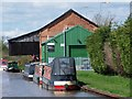 SJ5958 : Calveley Service Station, Shropshire Union Canal by David Martin