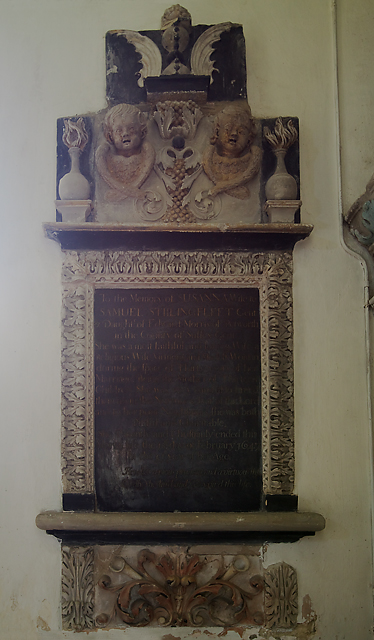 Monument to Susanna Stillingfleet - St Mary & St Bartholomew's church, Cranborne
