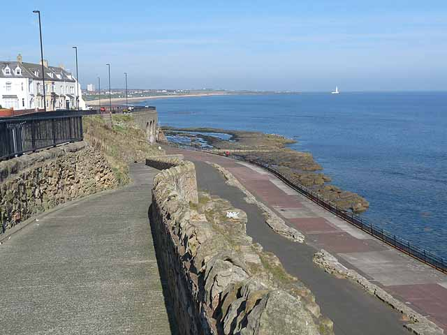 Ramp down to the Lower Promenade, Whitley Bay