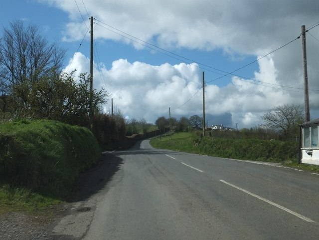 Minor road (NCN27) south-west of Brentor Inn