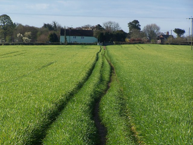 Path across field south of Cornhill Bridge, near Bettisfield