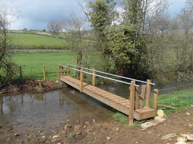 Footbridge over the River Churn