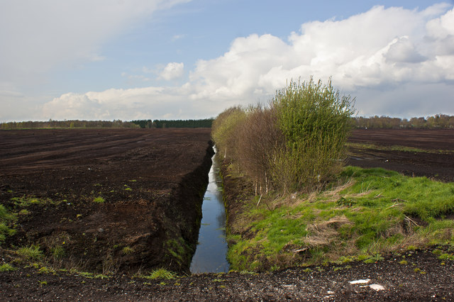 Chat Moss - the drainage ditches are very deep