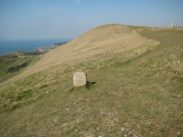 The coast path on Bindon Hill