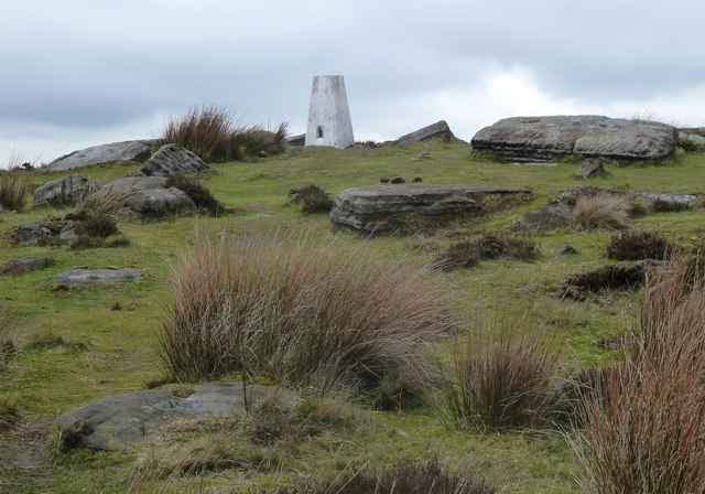 Approaching the White Edge trig point