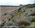 SK2677 : Rocky outcrop at the north end of White Edge by Andrew Hill