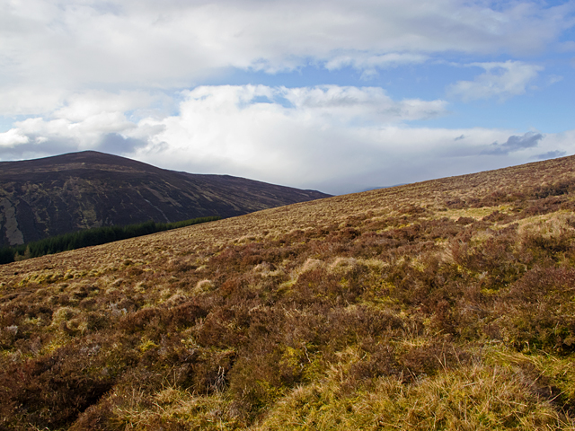 Western slopes of Creag Ard