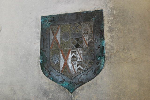 Coat of Arms above tomb of Sir Edward Gage