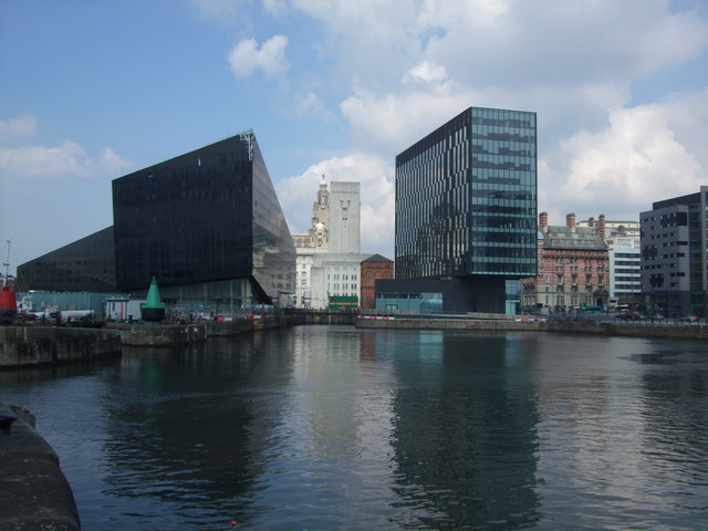 The old and new at Canning Dock Liverpool