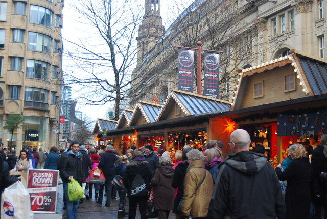 Christmas Market St Ann S Square 169 N Chadwick Geograph