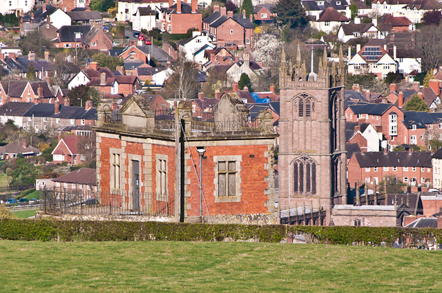 Elan Valley Aqueduct valve house and St Laurence's Church, Ludlow