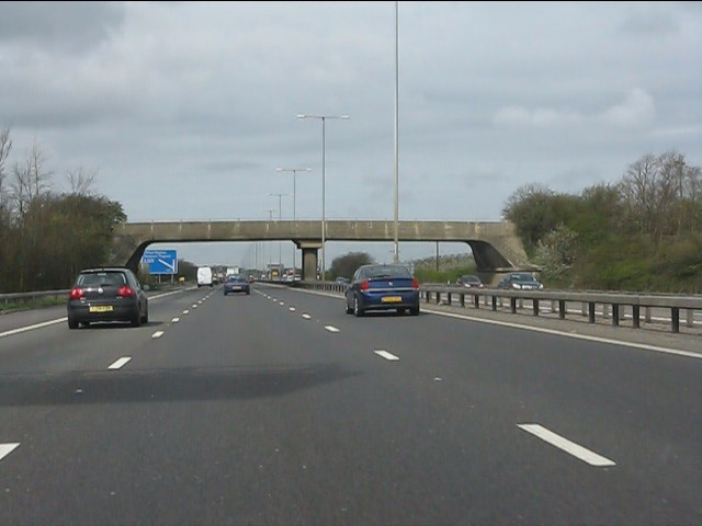 Broughton Farm accommodation bridge, M1 motorway