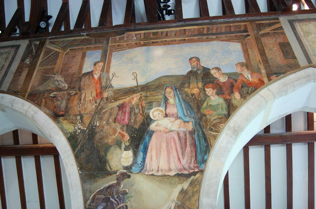 The Nativity Mural, Berwick church © Julian P Guffogg cc ...