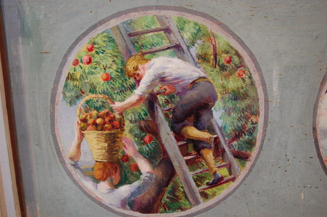 Apple Picking, Screen Painting, Berwick church