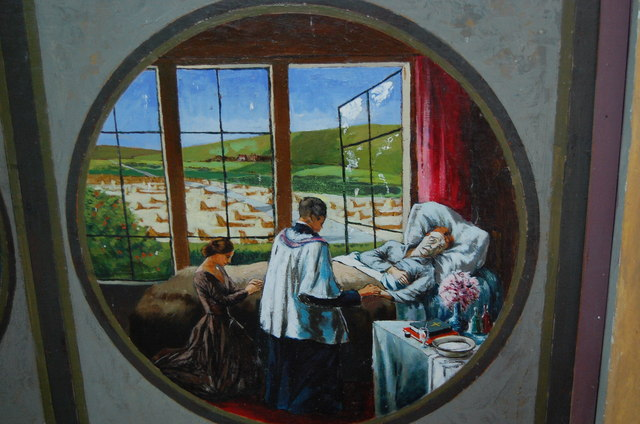 The Last Rites Chancel Screen Painting 169 Julian P