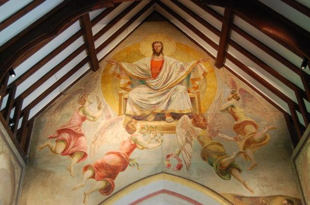 Christ In Glory Mural Berwick Church 169 Julian P Guffogg