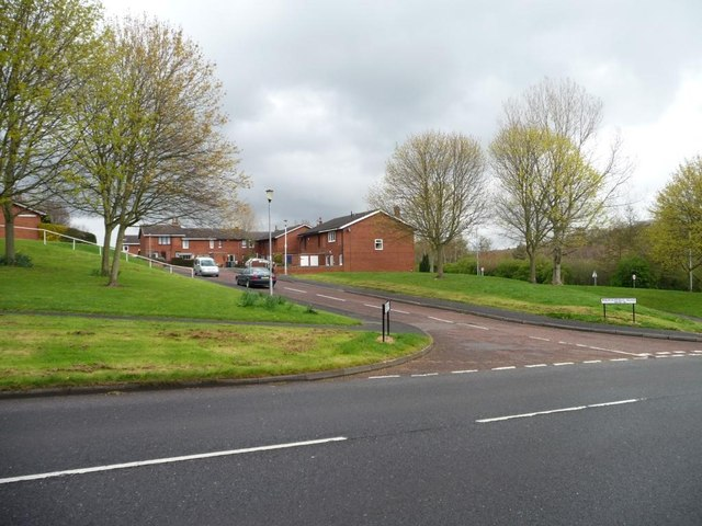 Access road for houses on Burnopfield Road